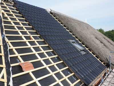 Onderhoud op het dak
